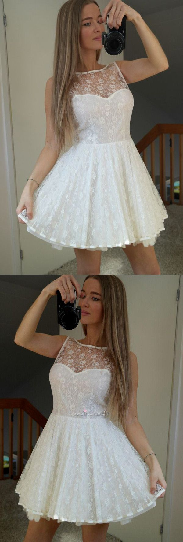 White Sheer Homecoming Dresses,Sleeveless Lace Up Appliques Short Prom Dress HCD120 Short Prom Dresses, Homecoming Dresses, Prom Gowns, Party Dresses, Graduation Dresses, Short Prom Dresses, Gowns Prom, Cheap Prom Gowns on Line