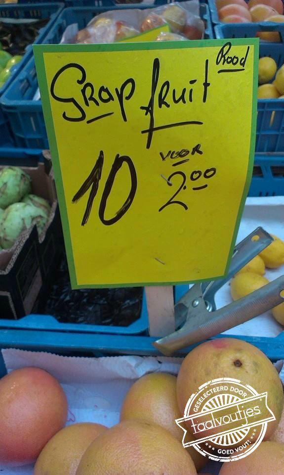 Dit fruit haalt een geintje uit. #taalvout  (Met dank aan Lot van Engeland!)