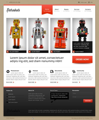 #free #business #template #html  #Themes  #Theme #robot http://www.freetemplatesonline.com/templates/Free-website-template-for-sale-of-futuristic-robots-354.html