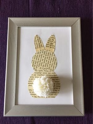 Osterhase aus Buchseite / Easter Bunny made from bookpage / Upcycling