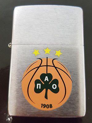 2006 MEGA RARE Basket Panathinaikos BC LIMITED EDITION STUNNING ZIPPO GREECE NBA