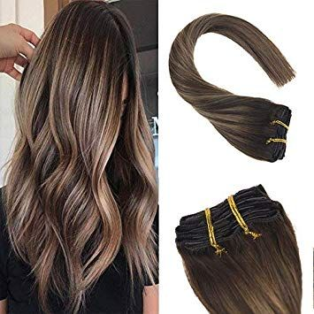 Sunny 20inch Clip in Balayage Hair Extensions Huma…