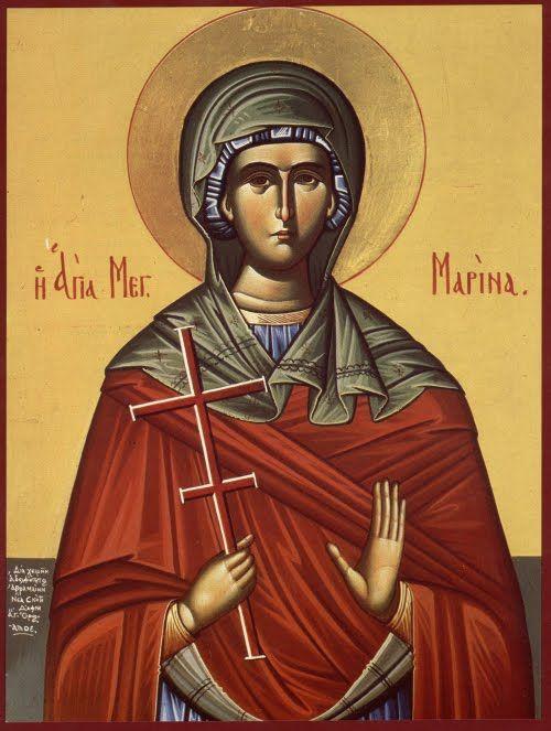 S. Marina martire Icone ortodosse: Icone greca