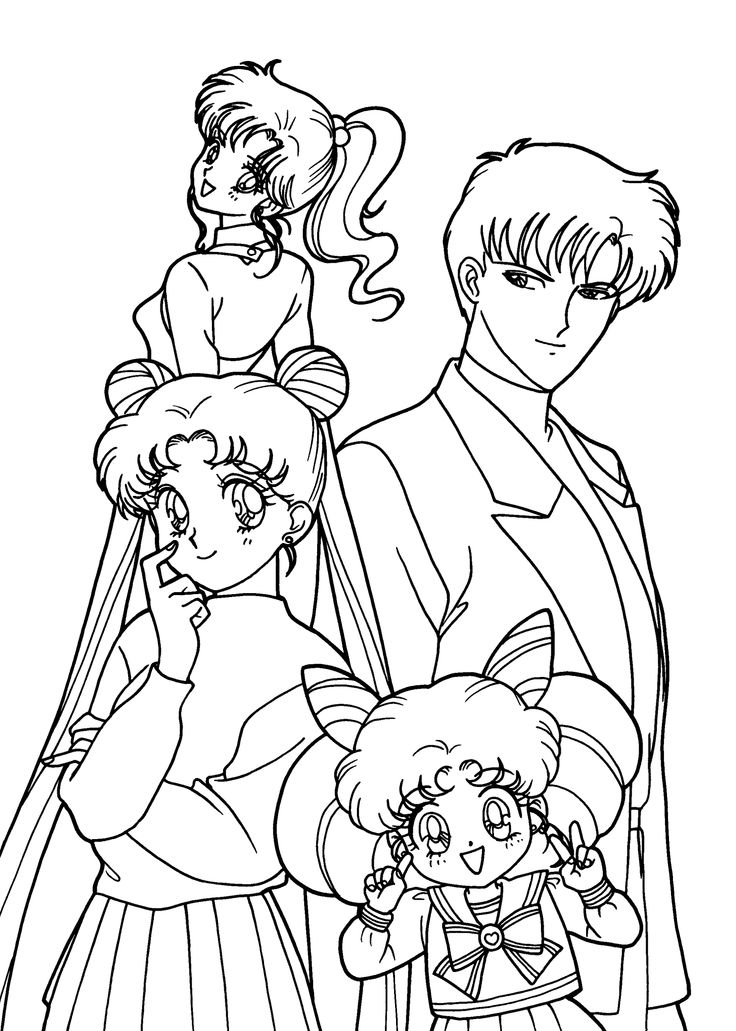 sailor moon coloring pages characters - photo#16