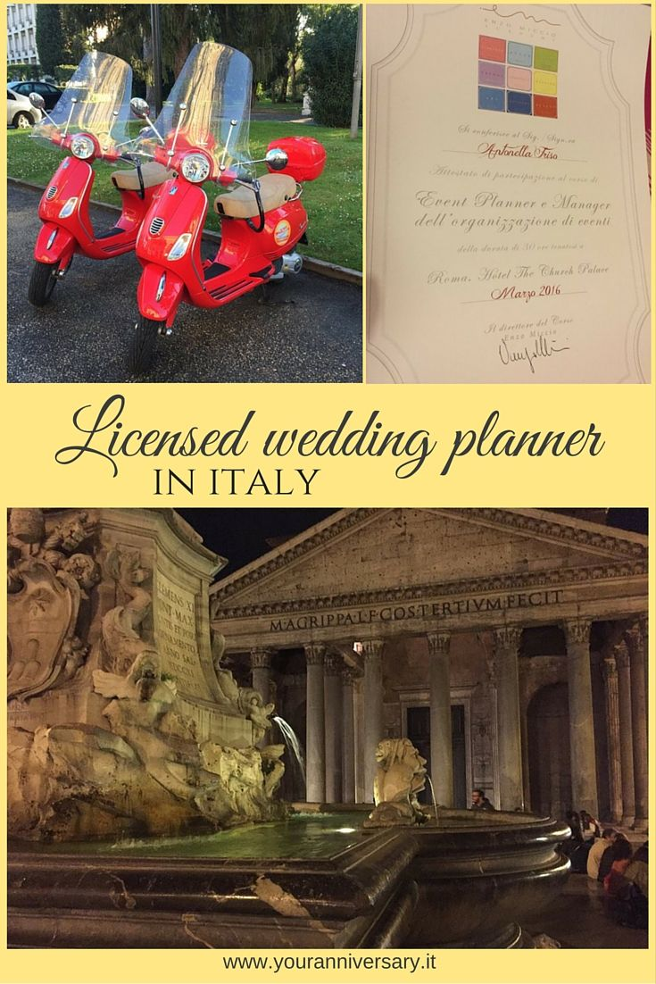 Plan your wedding in Italy with the help of a wedding planner trained by Enzo Miccio. Contact www.youranniversary.it to get started.