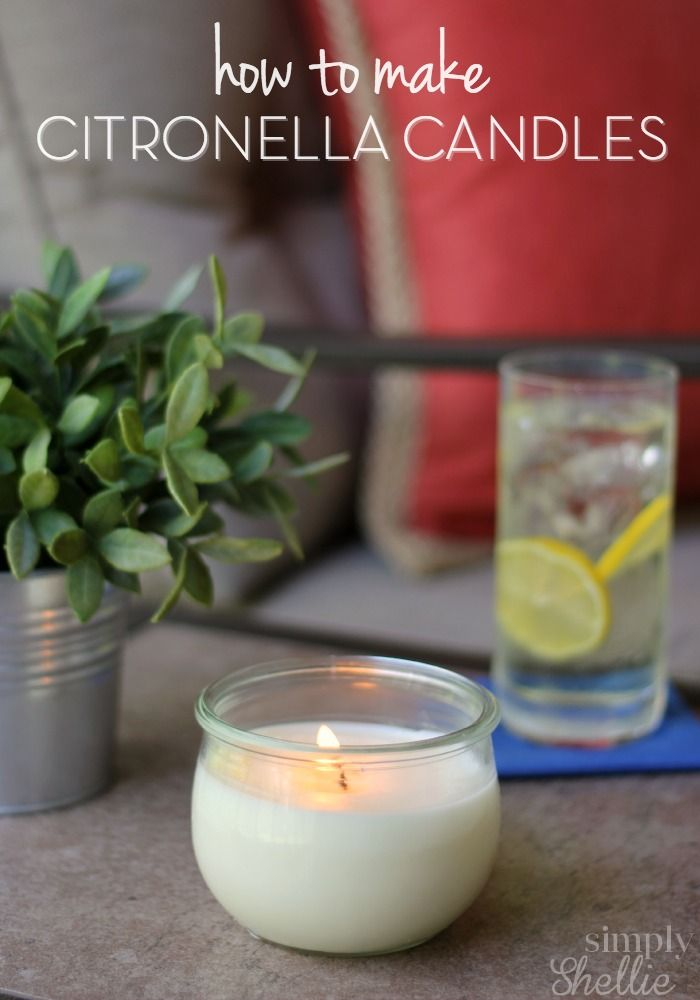 Keep the bugs away with these easy Homemade Citronella Candles. You can skip the bug spray and enjoy being outside this summer with this easy tutorial and Make Your Own Citronella Candles in about 10 minutes.