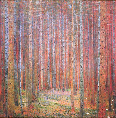 Gustav Klimt, Tannenwald I, 1901  (likely a forest in upper Austria - Litzlberg am Attersee)