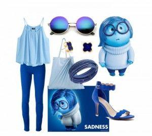 Outfit Tristeza, encuentra todos los estilos de los personajes de Disney en... http://www.1001consejos.com/outfits-al-estilo-disney/ #Disney #moda #1001consejos