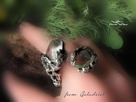Mountain quartz ring... from Galadriel Natural quartz pebles