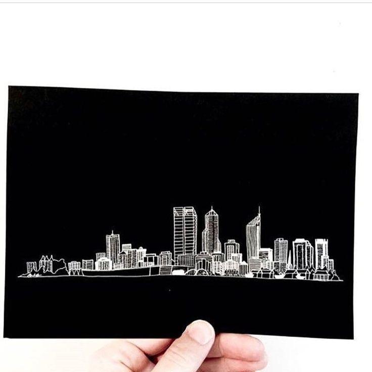 Goodnight Perth  . : @roseanddotco via @handmadeconnect . . . . . . . . . . . . #perthcity #perthart #perthsmallbusiness #perthcityscape #cityscape #buildings #skyline #cityskyline #whiteink #whiteinkprint #handdrawn #perthskyline #southperth #smallbusiness #gumdots #myhanddrawnheart #whiteonblack #a6 #handmadeconnect #perthgirlboss #iloveaustralianhandmade #etsyartist #etsyaunzgroup