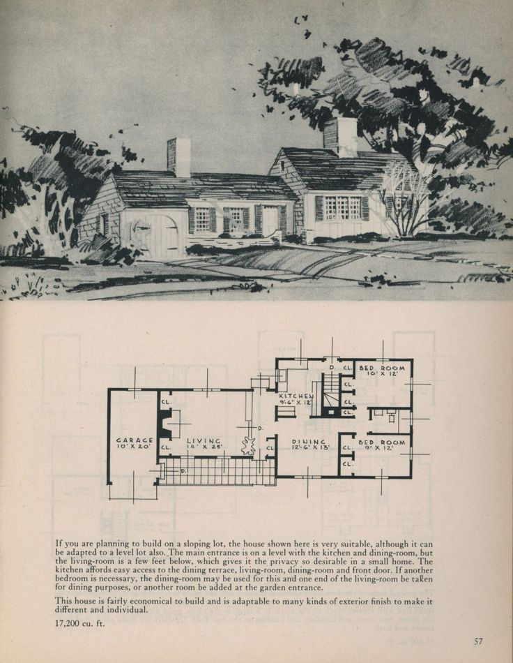 Houses for Home Makers, 1945. Royal Barry Wills, Architect. From the Association for Preservation Technology (APT) - Building Technology Heritage Library, an online archive of period architectural trade catalogs. It contains thousands of catalogs. Select your material and become an architectural time traveler as you flip through the pages.