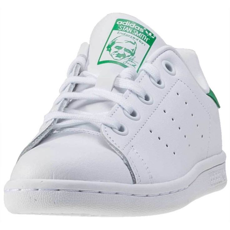 adidas Stan Smith C Kids Trainers White Green New Shoes | eBay
