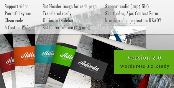 Adinda - Premium Business & Portfolio Wp Theme