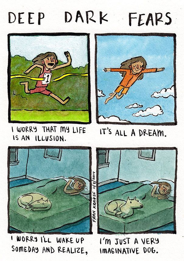 Artist turns people's deepest, darkest fears into incredible cartoons