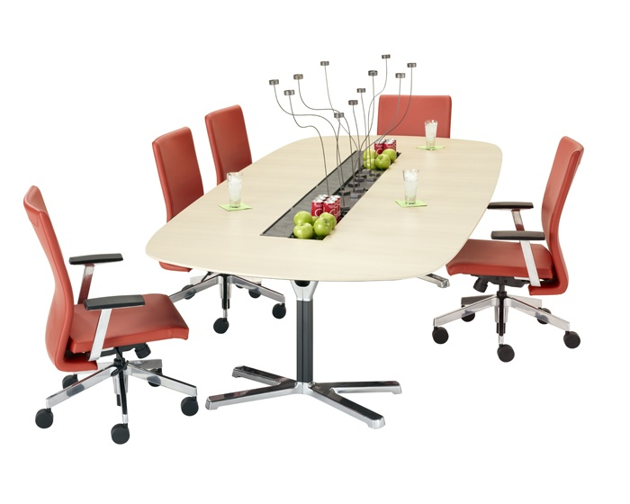 Contemporary Boardroom Table / Wooden / Oval   LAYLA By Lucy.D   Harter