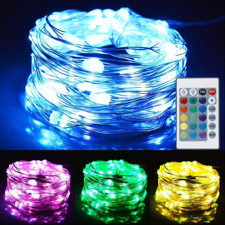 Best 25 light ropes strings ideas on pinterest interior leado 2 set led string lights 16 colors 4 modes fairy lights waterproof rope lights battery aloadofball Gallery