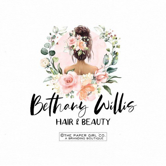 Hair Salon Logo Hair Stylist Logo Premade Logo Beauty Logo