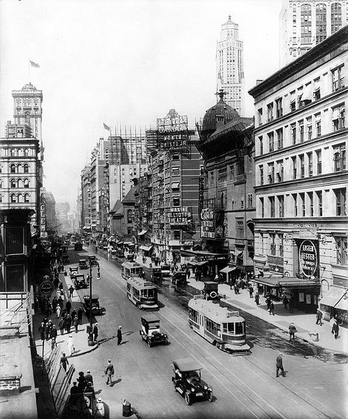New York City, Broadway, 1920