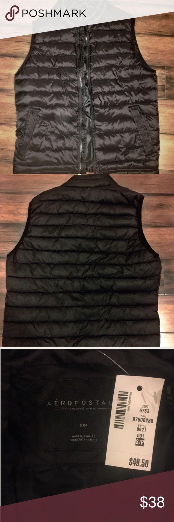 Selling this Black Vest FROM Aeropostale! on Poshmark! My username is: swinscott26. #shopmycloset #poshmark #fashion #shopping #style #forsale #Brandy Melville #Jackets & Blazers