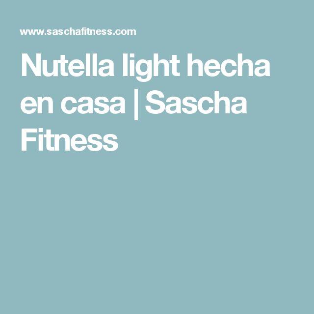 Nutella light hecha en casa   Sascha Fitness