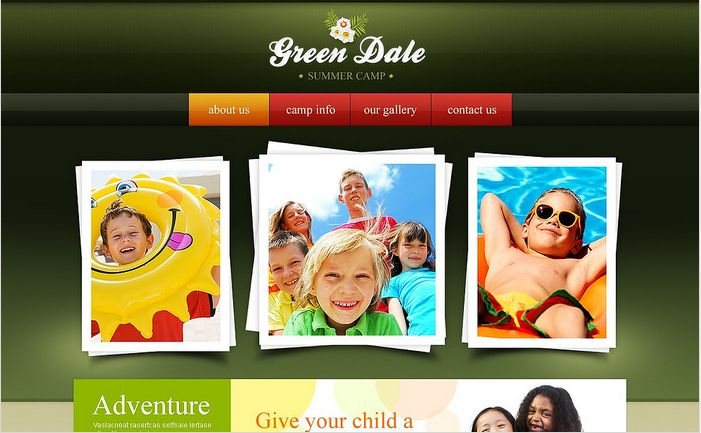 Green Dale Website Templates by Delta