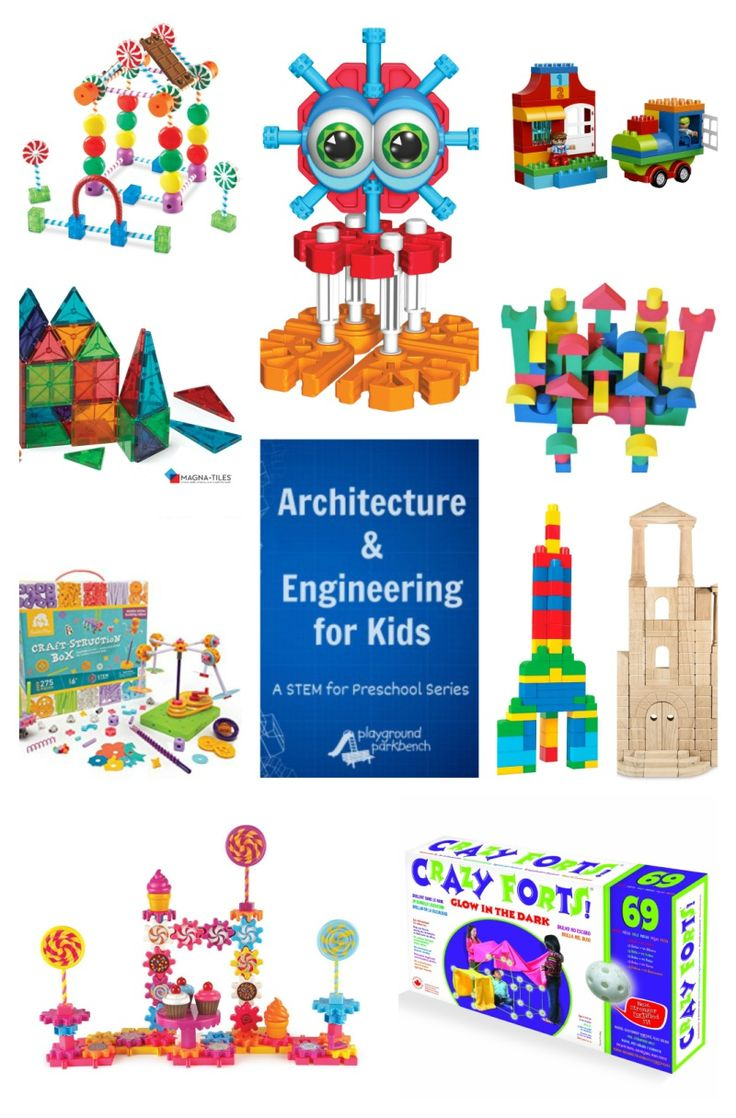 Get your supplies ready to follow along in our newest series with these great architectural and engineering toys for toddlers, preschooler and early elementary aged kids!