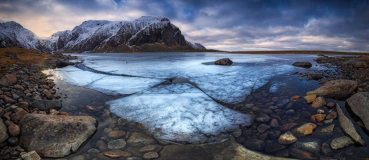 "Frozen Lofoten - This is a panorama of  a frozen lake in Eggum nature reserve in the Lofoten islands in the arctic Norway.   Take a look on <a href=""http://www.cristiankirshbom.com/"">www.cristiankirshbom.com/</a>  Follow me in <a href=""https://www.facebook.com/kirshbom"">Facebook</a> and <a href=""https://instagram.com/cristiankirshbom/"">Instagram</a>"