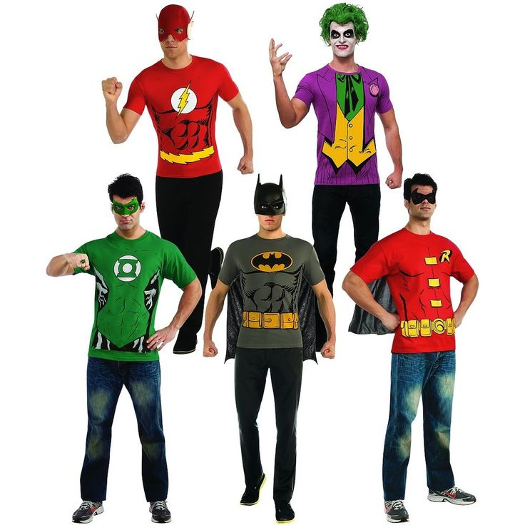 Easy Superhero Costumes for Men Adult T-Shirts Halloween Fancy Dress