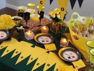 Football Party Ideas.You can create your very own party to support your team! All you need is the right colors!