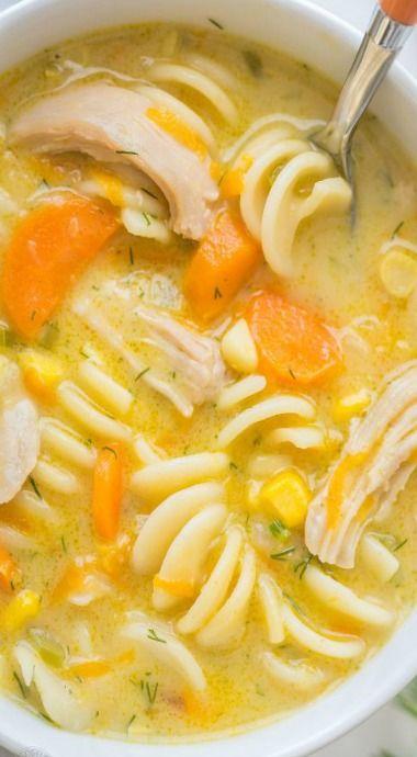 Creamy Chicken Noodle Soup                                                                                                                                                                                 More
