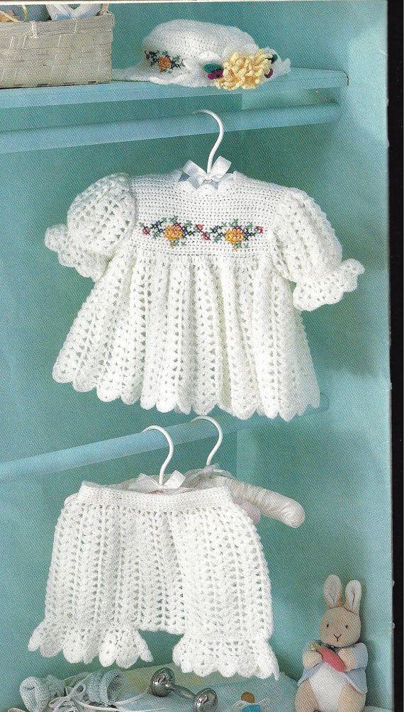 "CROCHET Pattern Baby Infant Toddler ""Sugar n Spice"" Dress, Hat, Pantaloons. $3.99, via Etsy."