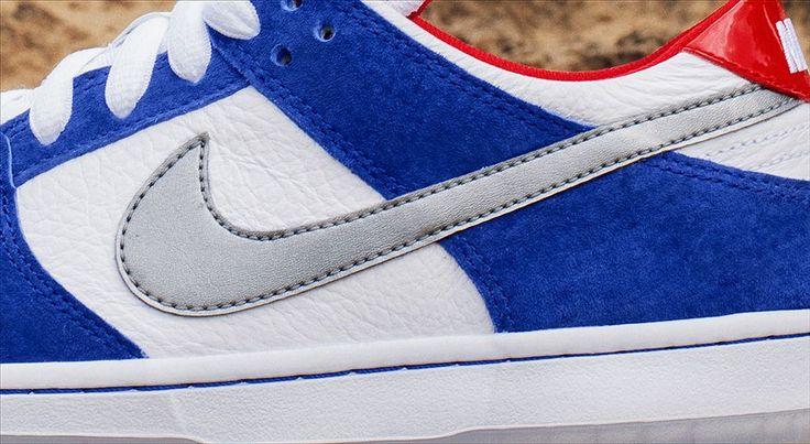 Nike SB Dunk Low Pro Ishod Wair QS 4 Nike SB Dunk Low Pro Ishod Wair QS Blue, Red & Metallic eukicks