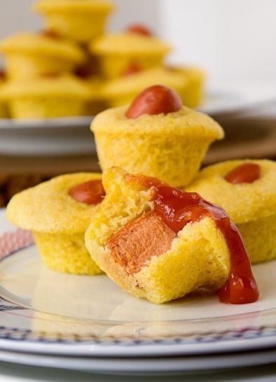 corn dog cupcakes from: events from above