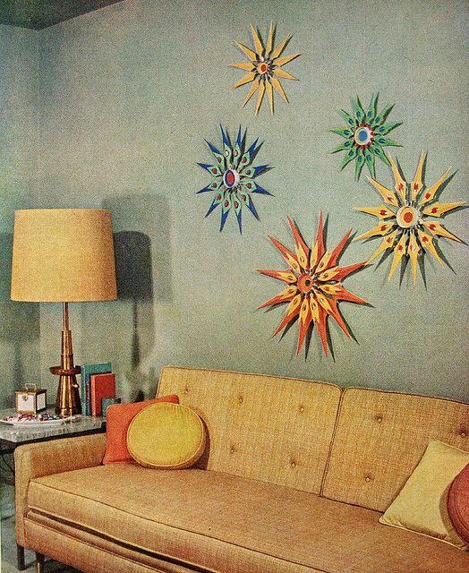 50'S aqua/yellow living room