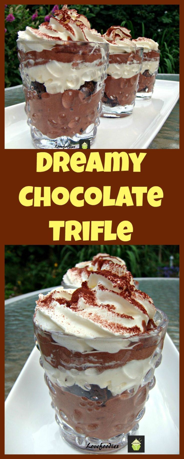 Dreamy Chocolate Brownie Trifle. Come and see the goodies in this lovely…