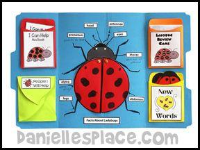 Ladybug Lección Lap libro de Bug Estudios compinche de www.daniellesplace.com