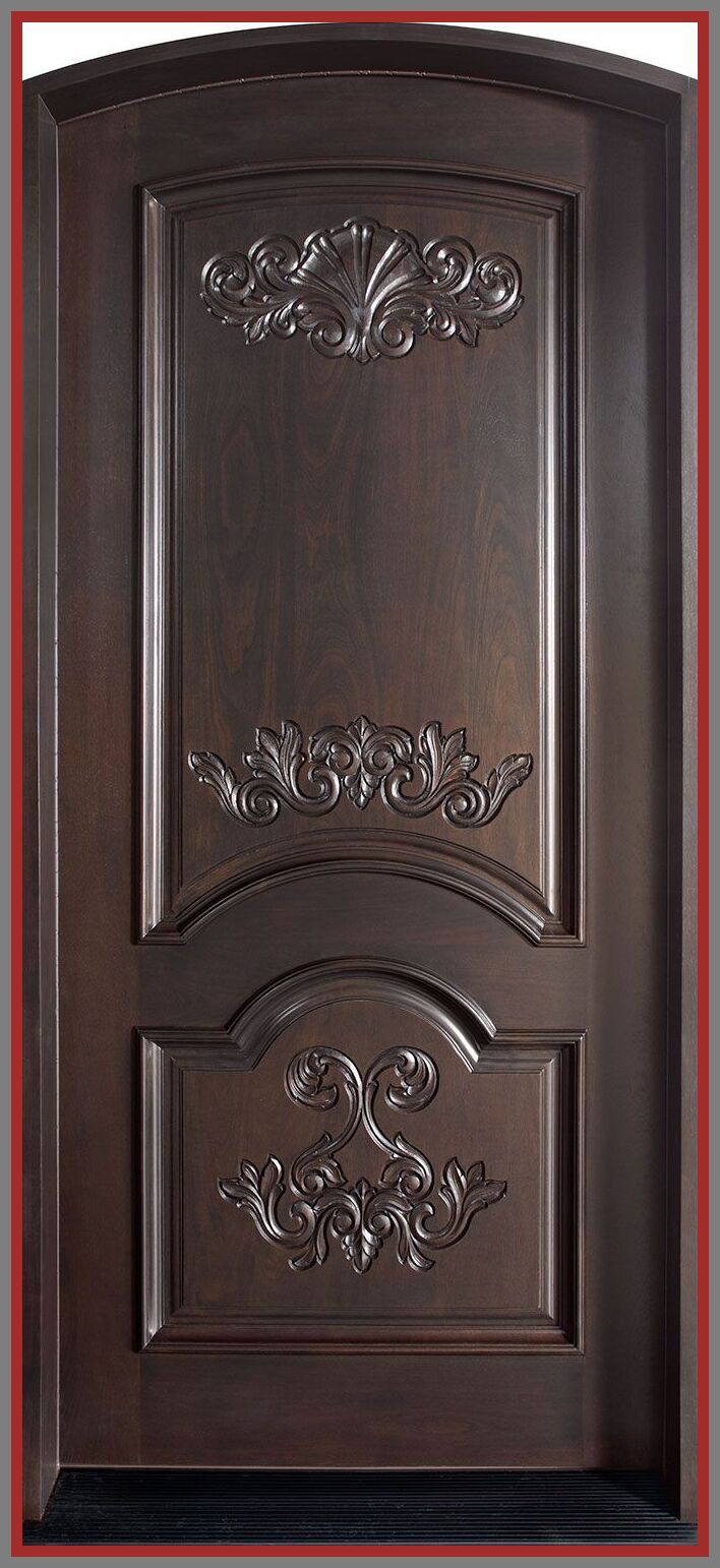 5 reference of front door wooden design in 5  Wood front