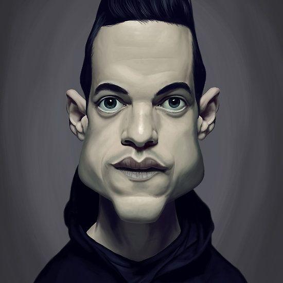 Rami Malek art | decor | wall art | inspiration | caricature | home decor | idea | humor | gifts