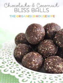 Healthy Chocolate and Coconut Bliss Balls | The Organised Housewife