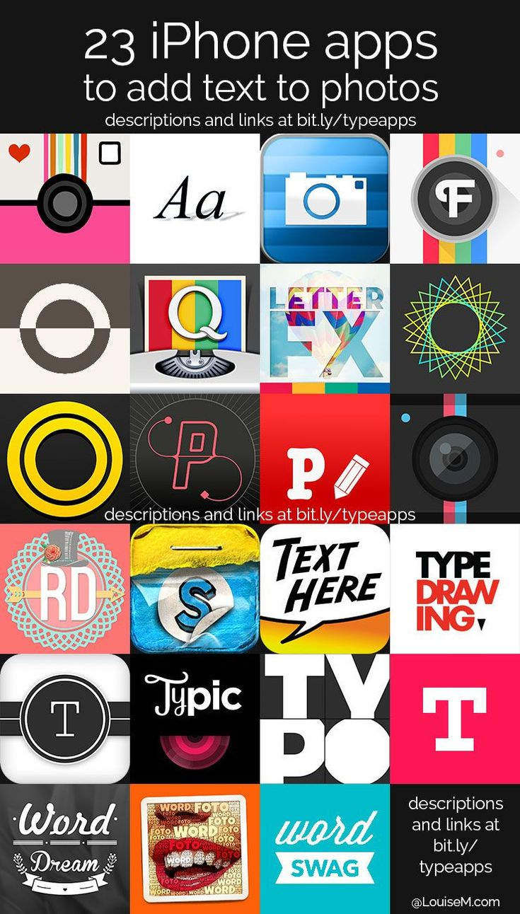 Looking for iPhone apps to add text to photos? It's the hottest thing in visual content! Find a fun typography app you'll love in this ultimate list. #IphoneApp