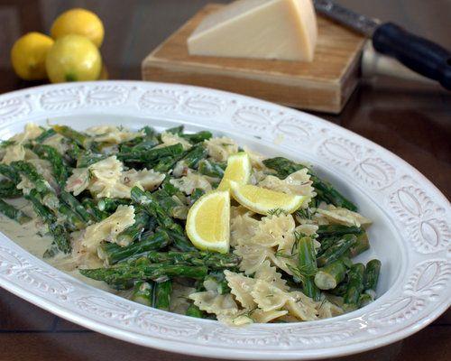 Lemon Asparagus Pasta, another Quick Supper ♥ KitchenParade.com