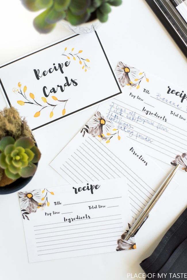 I Love Me Some FREE Printable Recipe Cards These Cute Little Will