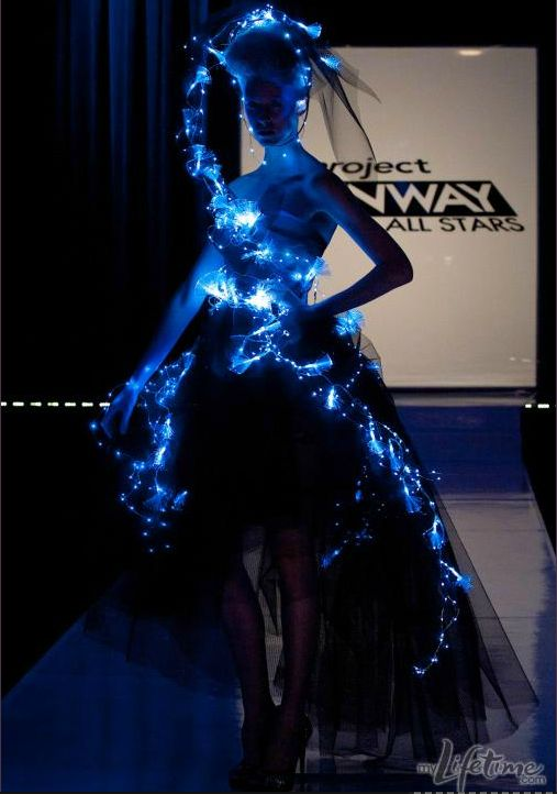 Illuminated Fashion Challenge on Project Runway - Fashioning Technology