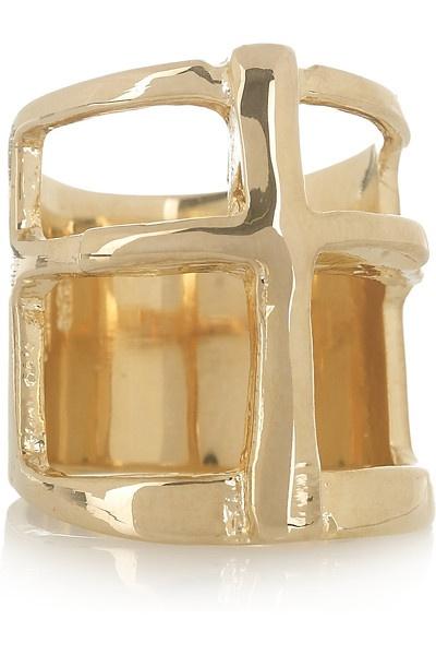 Pamela Love Gold-plated Cross Ring - LoLoBu