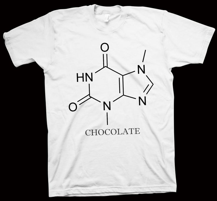 Chocolate T-Shirt , Chemistry , Formula , Stucture , Science , Geek Tee , Nerdy - T-Shirts
