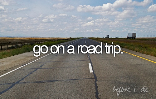 I want to someday go on a road trip and see where I end up. Of course someone has to go with me because I'm not a fan of traffic...I'm one of those country girls who would rather take a backroad than the interstate most of the time lol.: Bucketlist, Road Trips, Cross Country, Beasts, Things, Bestfriend, Roads, Bucket Lists, Roadtrip