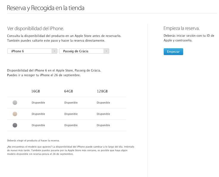 Abierta la reserva del iPhone 6 y 6 PLus en la Apple Store