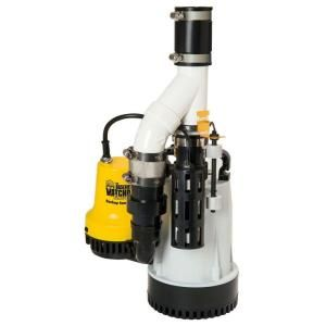 Basement Watchdog 1/3 HP Submersible Combination Sump Pump System-DFK961 at The Home Depot