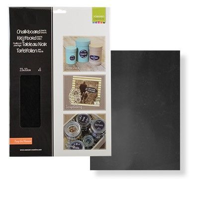 Krijtbord papier / Chalkboard Paper - A4 - 5 vel - 2929-002