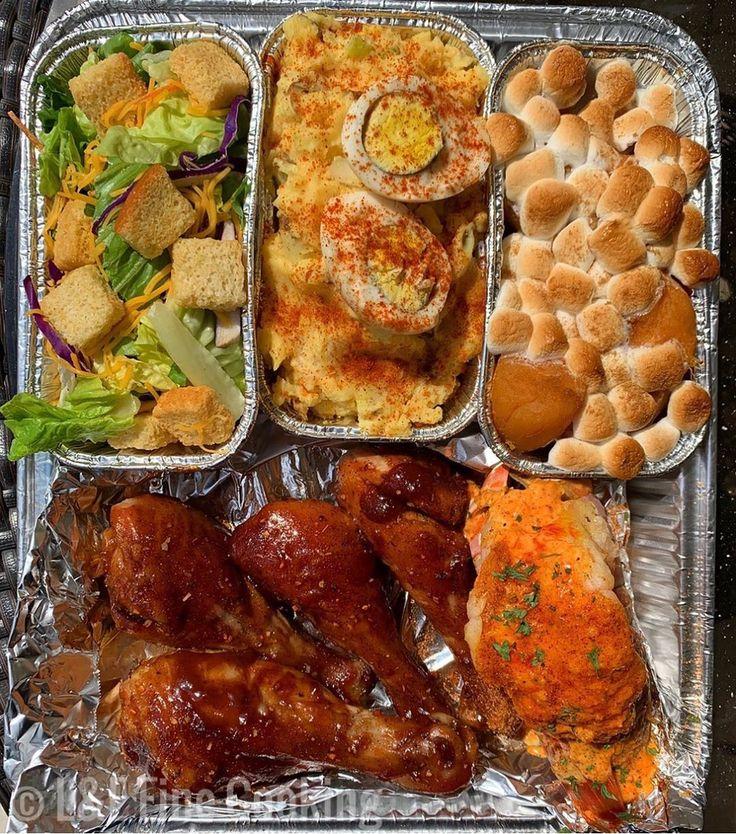South Pan 🤤🔥 •Honey Smoked BBQ Chicken •House Salad •Southern Potato…
